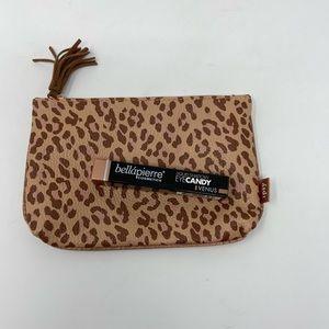 Leopard Print ipsy clutch w BellaPierre Eye Candy